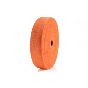 Elástico Dupla Face 48mm 1239 laranja Fluor c/ Lurex - 25 Metros