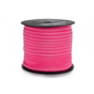 Elástico EPTL 6mm 2625 - Pink c/ Lurex - Rolo c/ 50 Metros