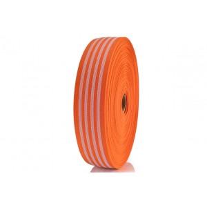 Elástico EPTL 40mm 220.7515 Laranja / Branco - Rolo c/ 50 Metros