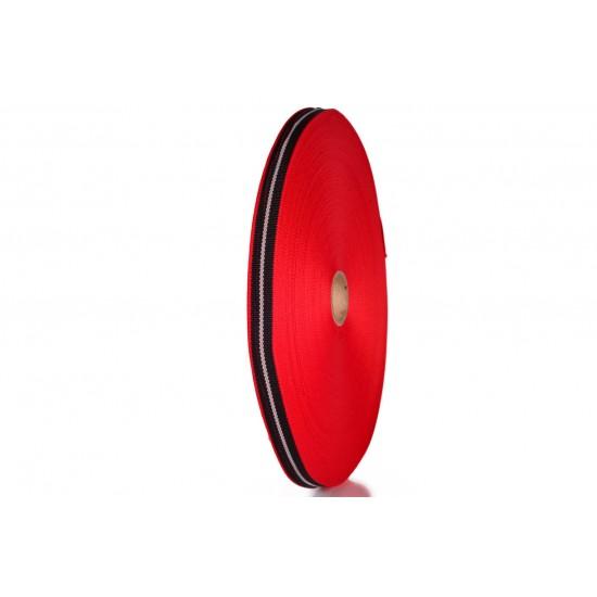 Fita FP 14 12mm 2900.7620.7665 - Vermelho/Preto/Cinza - Rolo c/ 25 Metros