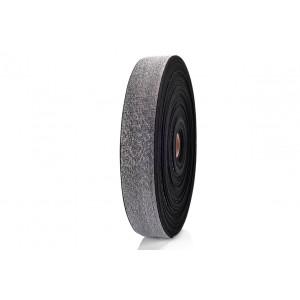 Elástico Dupla Face 35mm 7665 - Cinza c/ Lurex - 25 Metros