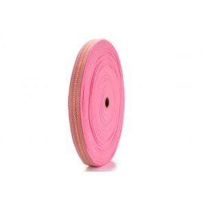 Fita Mista FAL 13 28mm 6886.2625 Bege / Pink c/ Lurex - Rolo 25 Metros
